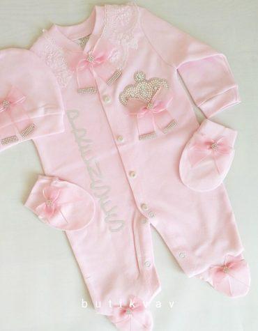 kiz bebek prenses tac suslemeli hastane cikisi 1 3 ay 03 scaled - Kız Bebek Prenses Taç Süslemeli Hastane Çıkışı 1-3 Ay