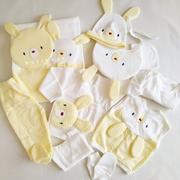 gaye bebe tavsan kafa 10 lu hastane cikisi sari 02 scaled - Gaye Bebe Tavşan Kafa 10'lu Hastane Çıkışı Sarı