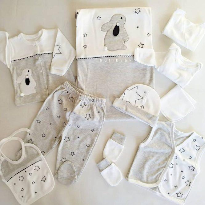 gaye bebe tavsan yildizlar 10 lu hastane cikisi gri 02 scaled - Gaye Bebe Tavşan & Yıldızlar 10'lu Hastane Çıkışı Gri