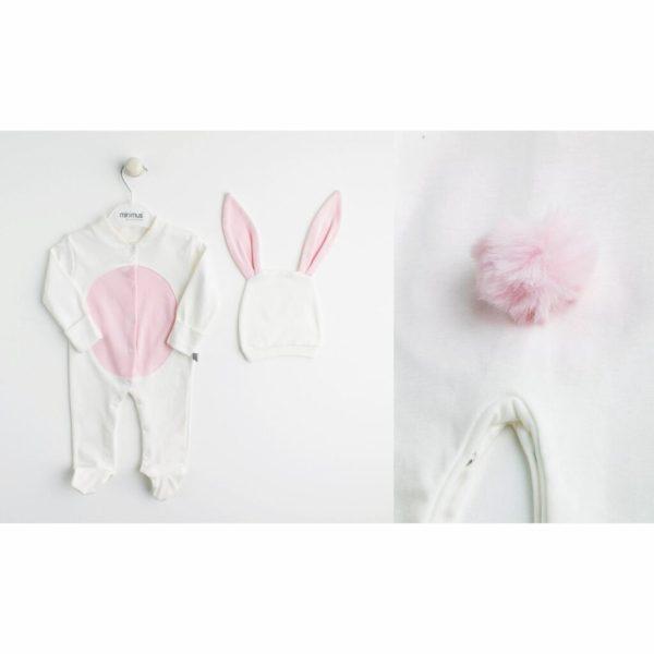 kiz bebek cicek desenli fermuarli tulum seti 3 6 ay 02 scaled - Kız Bebek Ponponlu Tavşan Tulum Seti Krem