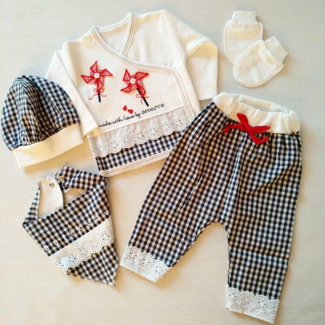 kiz bebek potikareli dantelli hastane cikis seti 01 scaled - Kız Bebek Pötikareli Dantelli Hastane Çıkış Seti