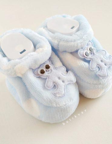 yenidogan erkek bebek pelus panduf 01 scaled - Yenidoğan Erkek Bebek Peluş Panduf
