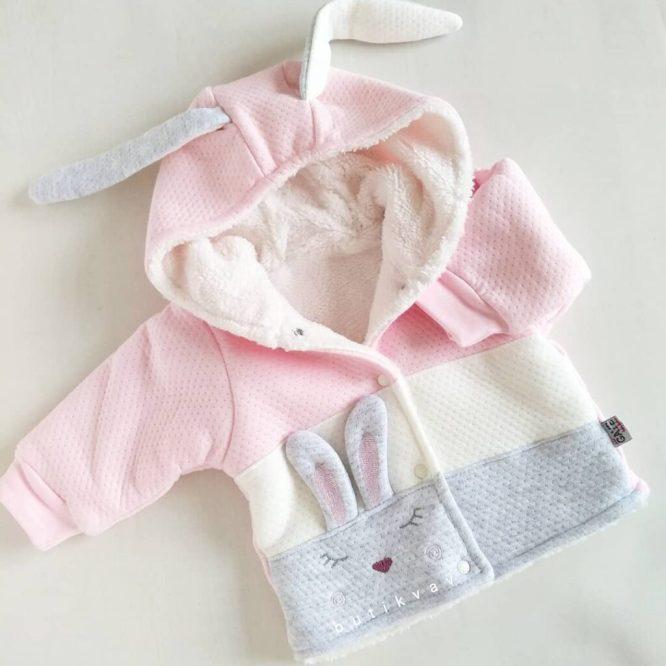 gaye bebe uyuyan tavsan yelek sari 1 3 ay 01 scaled - Kız Bebek Tavşan Kulak Peluş Hırka 1-3 Ay