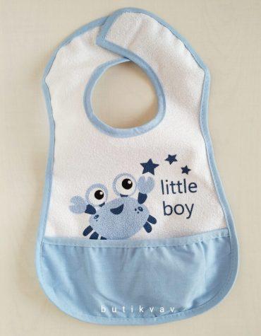 ses cikaran duduklu bebek onlugu mavi 01 scaled - Ses Çıkaran Düdüklü Bebek Önlüğü - Mavi
