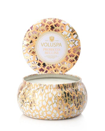 Voluspa Tin Candle 2-wick Prosecco Bellini