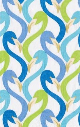 Caspari Servetter Flamingo Flock Blue