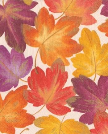 Caspari Servetter Fallen Leaves