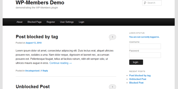 New CSS Stylesheets included in WP-Members