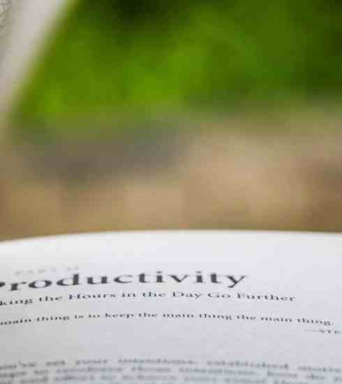 open book talking about productivity