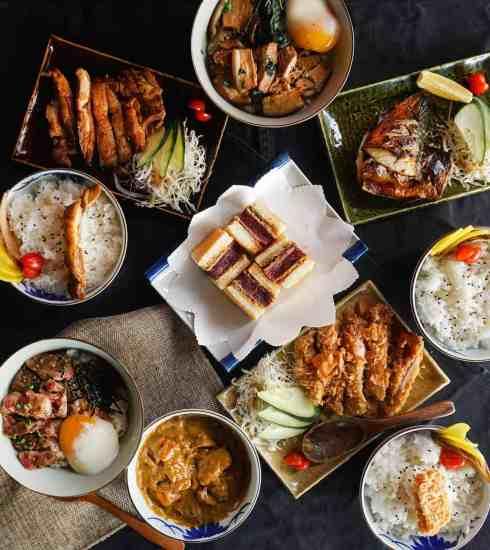 spread of Japanese food