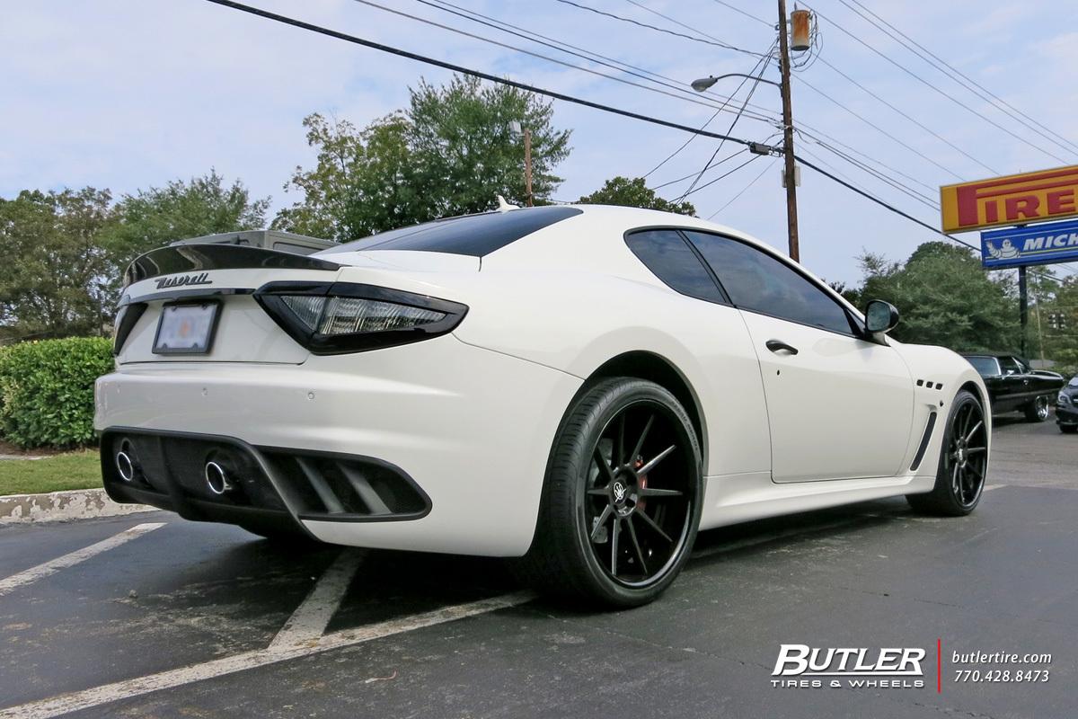 Maserati Granturismo With 21in Strasse R10 Wheels