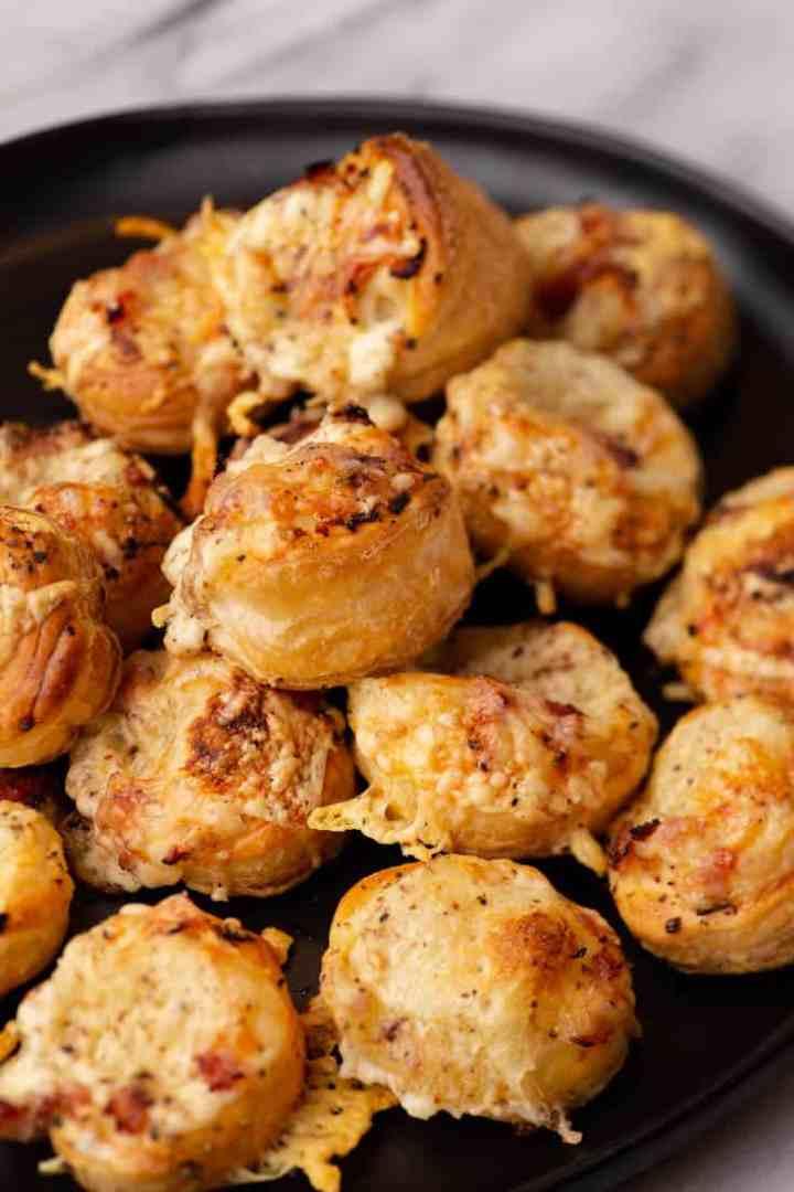 A platter of Mini Croque-Monsieur