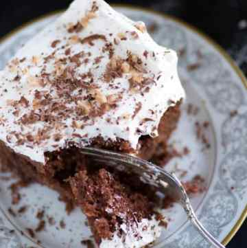 A piece ofCaramel Heath Bar Cake,