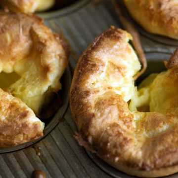 Yorkshire pudding in a muffin pan