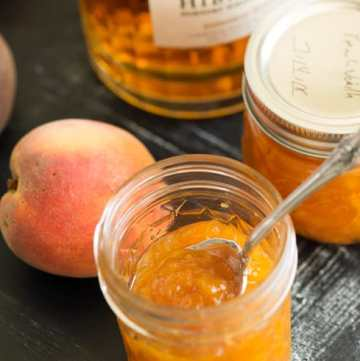 A jar of Peach Vanilla Jam