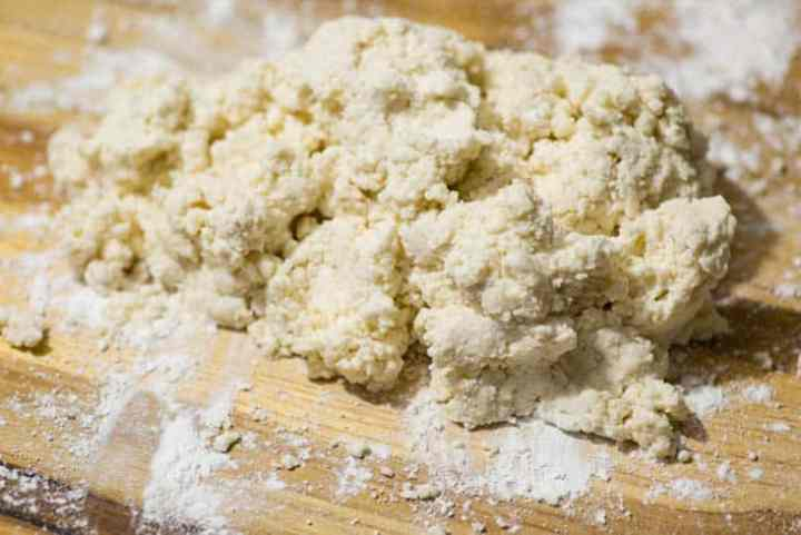 A pile of dough for biscuits