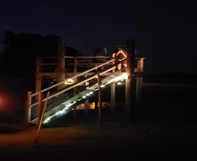 Zipline In the Dark Platform