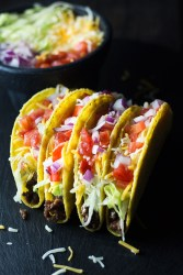 Crunchy Beef Tacos - Easy and fun to make crunchy beef tacos, packed with delicious flavors. It's a great go-to weeknight meal, especially on Taco Tuesday nights. | butterandthings.com