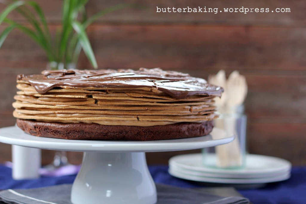 Brownie Espresso Icebox Layer Cake with Nutella Frosting | Butter Baking