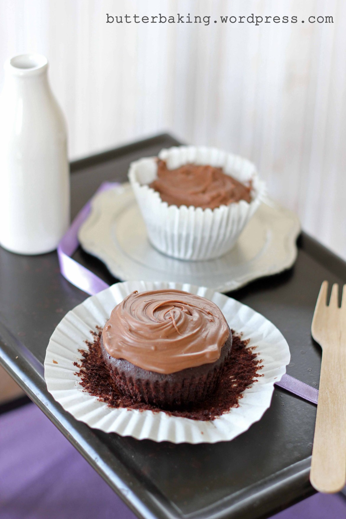 Brownie Cupcakes with Chocolate Hazelnut Frosting | Butter Baking