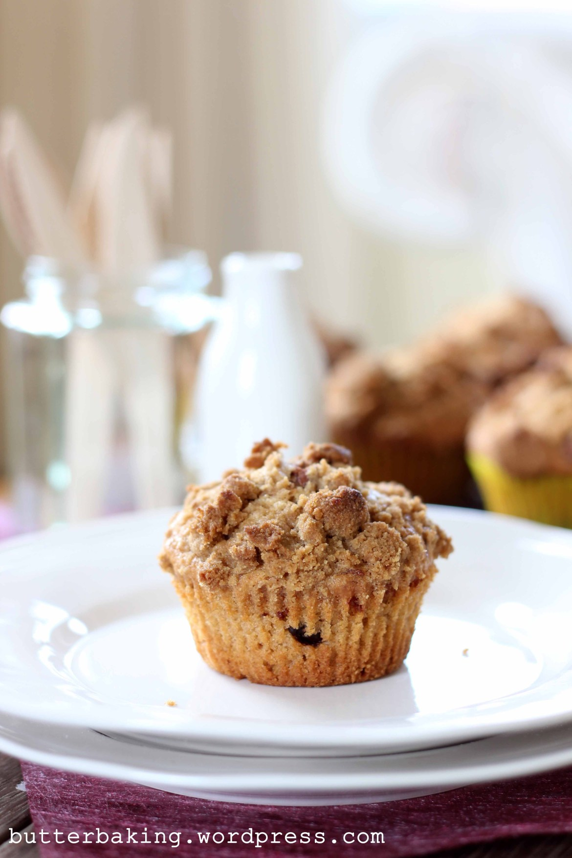 Chocolate Chip Biscoff Streusel Muffins | Butter Baking