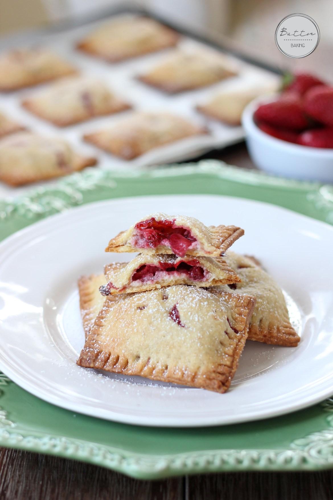 Strawberry custard hand pies | Butter Baking