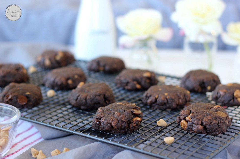 Double peanut butter chocolate chip cookies   Butter Baking