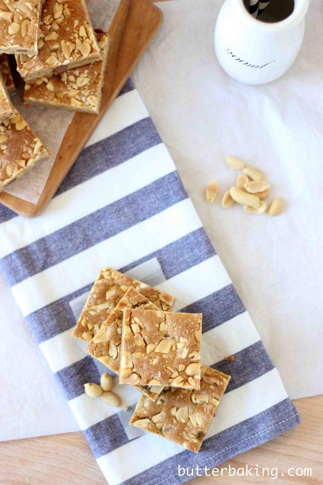 Salted Peanut Blondies | Butter Baking
