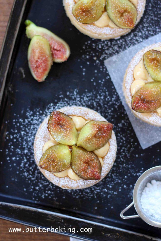 Brûlée Fig and Custard Tart   Butter Baking