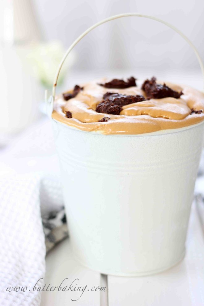 Salted Caramel Ice Cream with Chocolate Hazelnut Fudge | Butter Baking