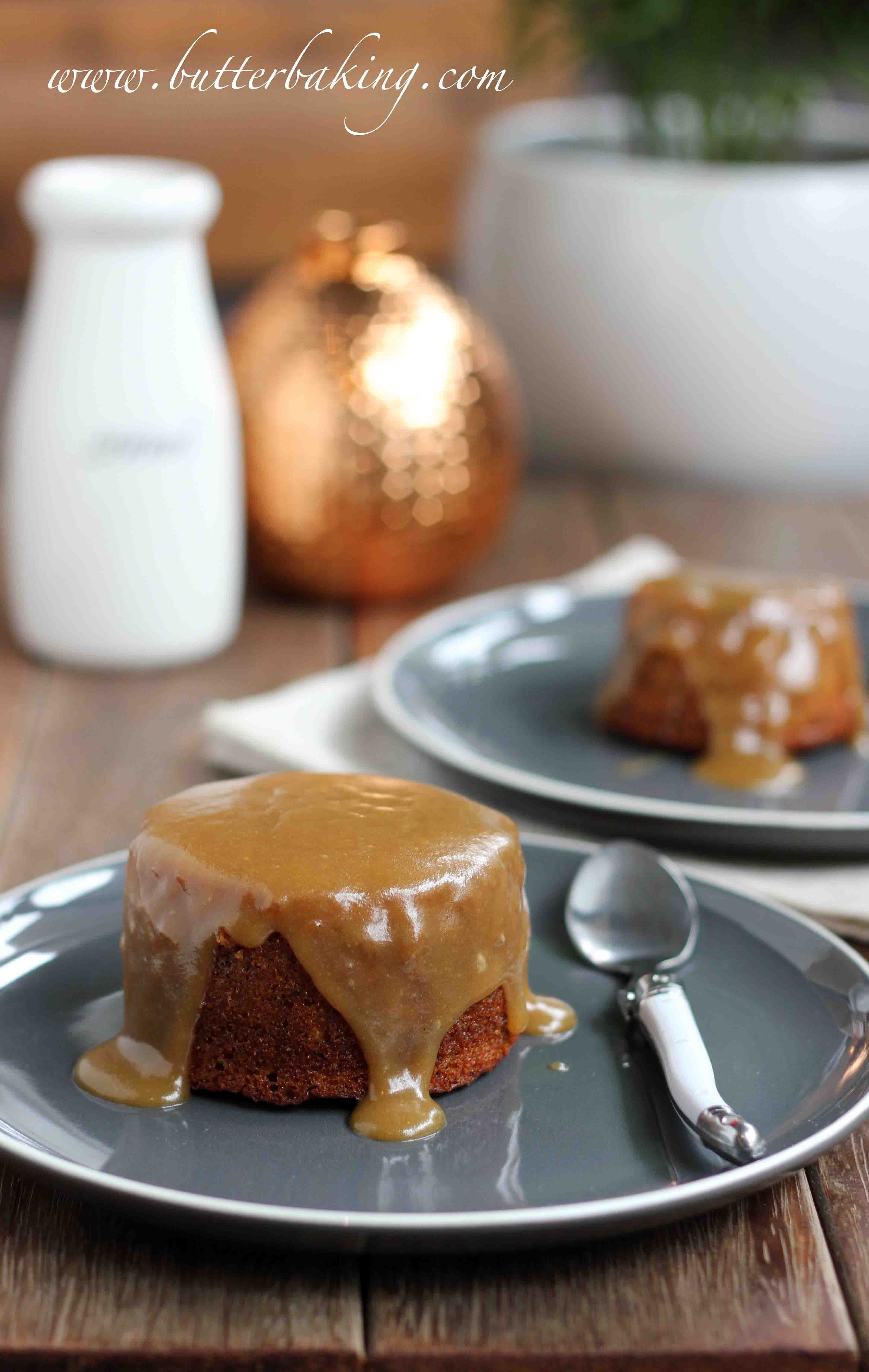 Sticky Date Puddings With Butterscotch Sauce Butter Baking