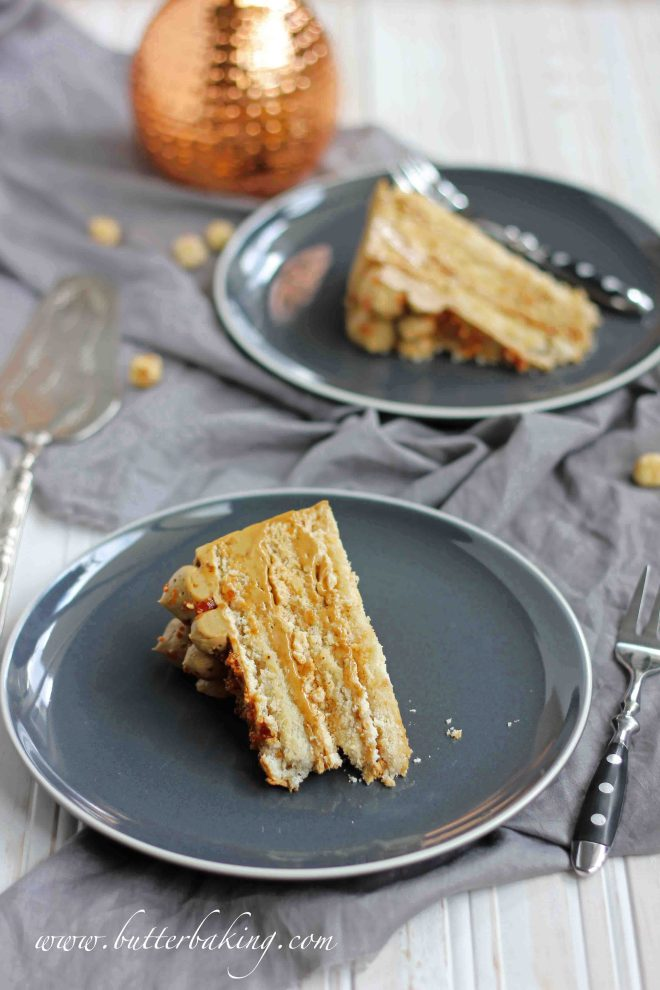 Coffee and Hazelnut Dacquoise   Butter Baking