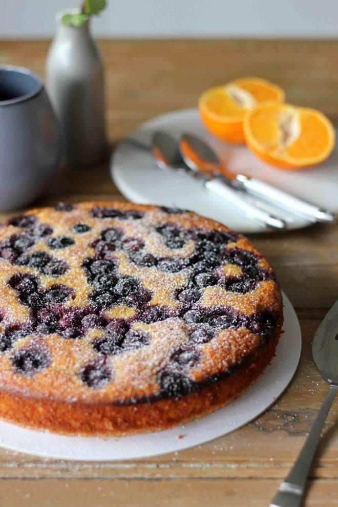 Flourless Mandarin, Almond and Blueberry Cake   Butter Baking
