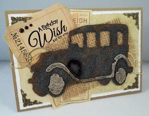 Vintage Car Birthday Card