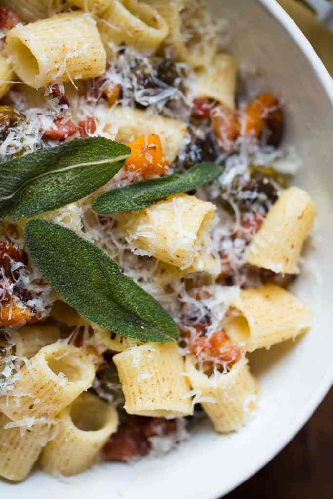 Brown Butter Butternut Squash Pasta with Pancetta