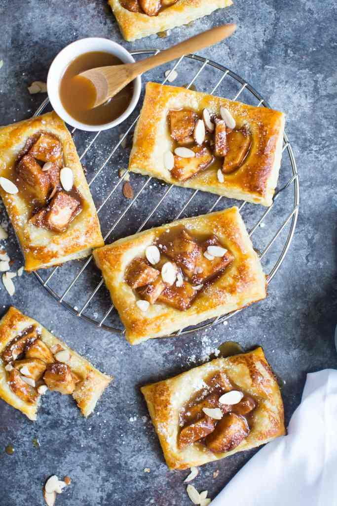 Easy Caramel Apple Puff Pastries