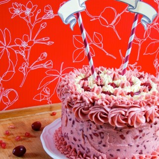 Lemon Pomegranate Cranberry Cake