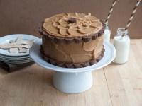 Devil's Food Layer Cake with Peanut Butter Frosting