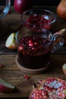 Quick Easy Pomegranate Cranberry Chai Spiced Hot Cider