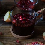 Pomegranate Cranberry Spiced Hot Cider