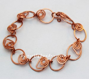 Inspired by some of the smoothest and boldest red wines of the Yakima Valley, this original Butterfly Sundries design features a handmade copper link bracelet with leaves and spirals. It's also available in brass and silver!