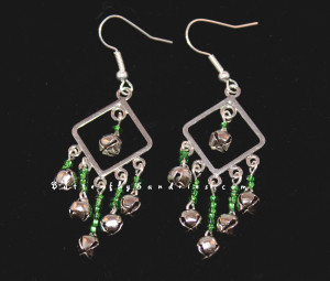 Silver Bell Chandelier Earrings