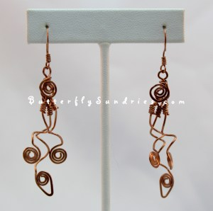 "These ""Tangled Vine"" earrings, a new addition to Butterfly Sundries' original Tendrils of the Vine Collection, was inspired by a Terra Blanca wine!"