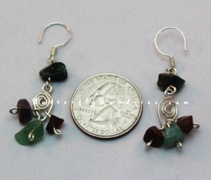 SS Leaf and Jasper Earrings Perspective on White