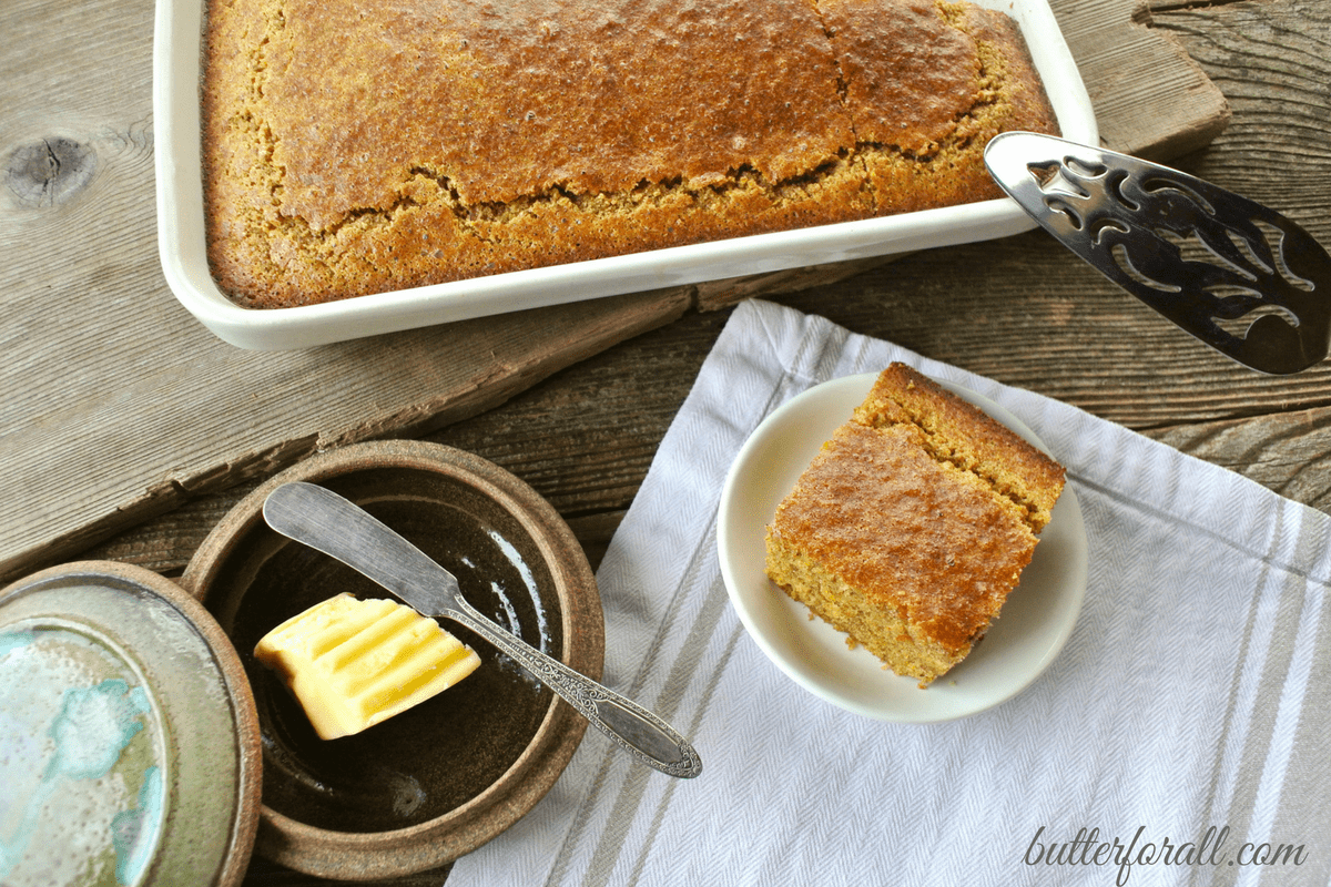 Clabber Milk Corncake -A Healthy Soaked Grain Cornbread