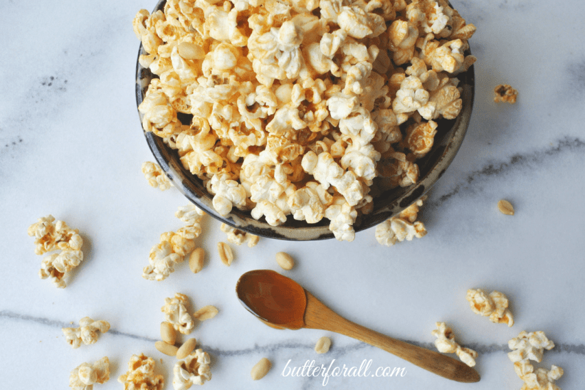 Honey Nut Popcorn - A Crispy, Crunchy, Buttery, Nutty, Wholesome Treat