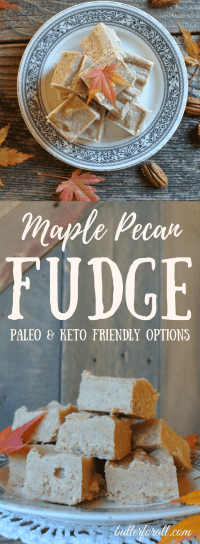 Maple Pecan Fudge - Paleo And Keto Friendly