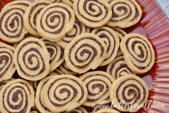 The filling for these decadent cookies is quickly made in the food processor!