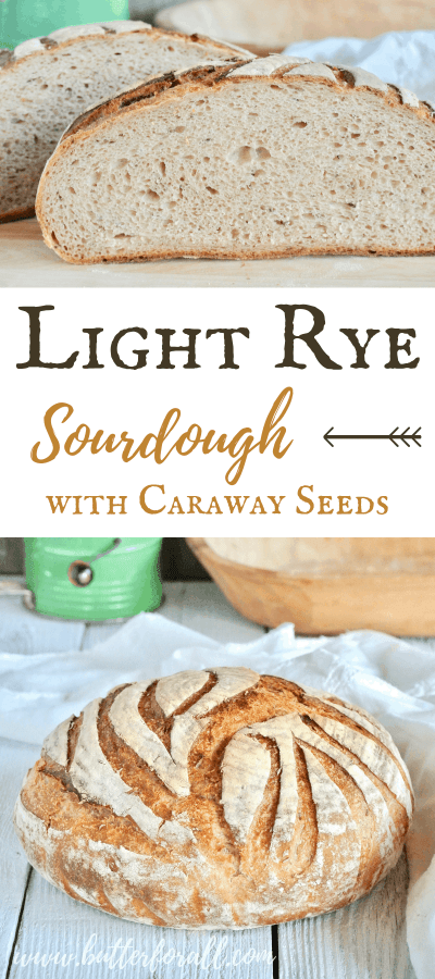 A soft and chewy sourdough boule made with the perfect percentage of rye flour for flavor and workability. #starter #bread #boule #sourdough #caraway #traditional #baking #rye #heirloomgrains #realfood #wisetraditions