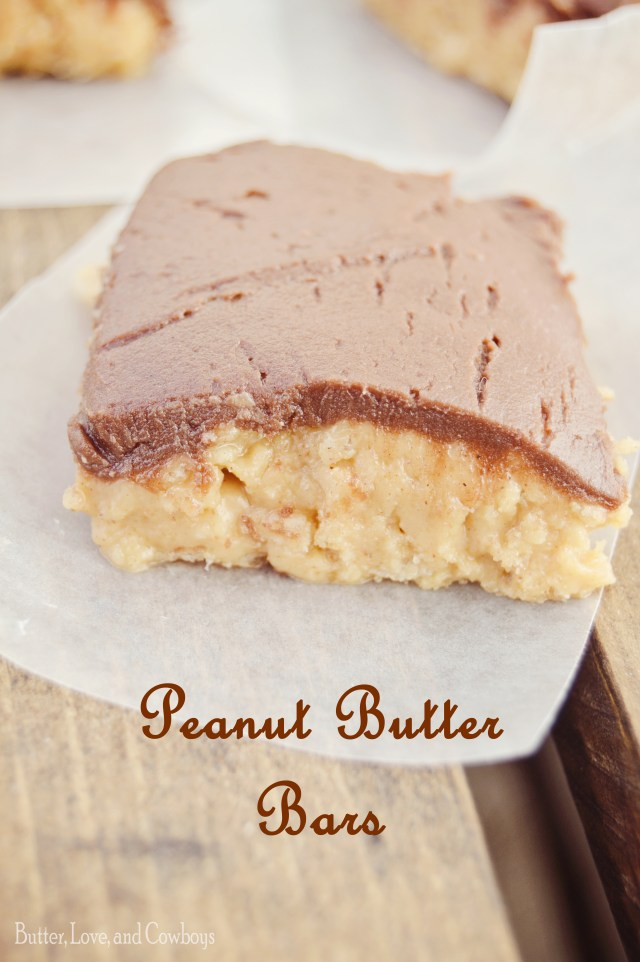 Peanut Butter Bars from butterloveandcowboys.com